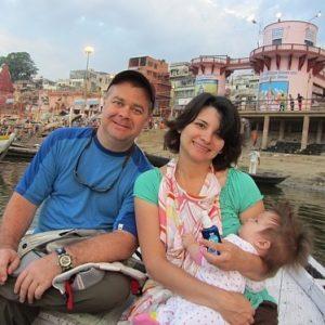 The McKay's in Varanasi, India
